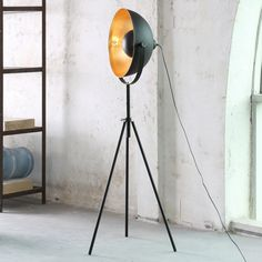 Staande lamp Irving - zwart/goud 1 lichtbron