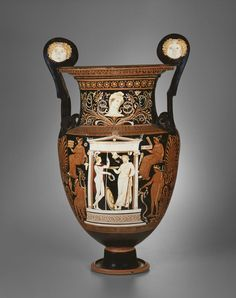 Greek, Apulia, Italy Attributed to the Painter of Copenhagen 4223 Volute Krater (Funerary Vessel), 330/320 B.C.