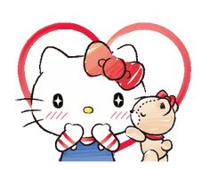 Hello Kitty and Tiny Chum / Line Sticker