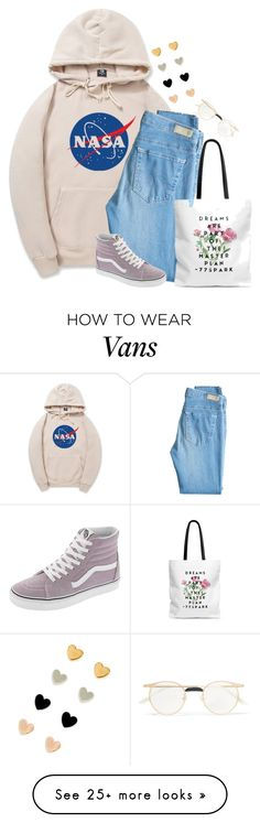 """Untitled #2825"" by pageinabook on Polyvore featuring AG Adriano Goldschmied, Vans and Gucci"