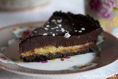 Oreoterte med karamell- og sjokoladefyll