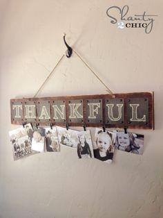 Thankful Free Printable Photo Board
