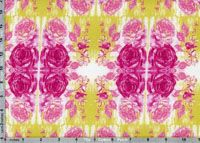 Tina Givens Rose Water Fabric: Rose Water, lime (per 1/4 metre)