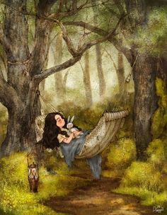 시원한 나무 그늘 아래에 있는 해먹에 누우면, 바람도 솔솔, 잠도 솔솔 금새 달콤한 잠에 빠져 버려요