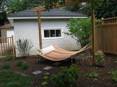 Relaxing Hammock - Custom Arbor to hold Pergolas & Arbors | digrightin