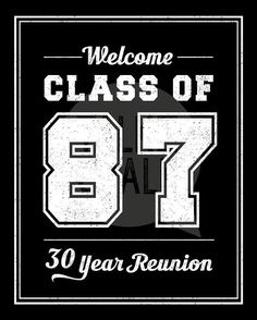 This CLASS OF 1987 digital sign is perfect for welcoming class reunion guests. After printing the poster, you can display it at the reunion sign-in table or at the entry of the party. Please CAREFULLY read the points below before purchasing! ♦ ALL ITEMS in my shop are DIGITAL FILES ONLY ♦ NO physical sign/card is shipped in the mail ♦ This item is an INSTANT DOWNLOAD ►► INCLUDES TWO DIGITAL FILES (These files are flattened jpegs and are not editable. Watermark is not visible in high…