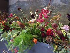 Autumn Colours #fall #flowersinthefoyer #arrangements #autumn