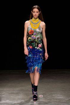 Mary Katrantzou | London Fashion Week | Fall 2017 • Model: Camille Hurel
