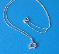 925 Sterling Silver Zirconia Star Necklace
