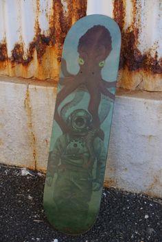 Deep Sea Diver Skate Deck by Iconica Fine Art