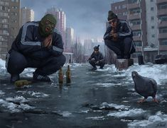 Stefan Koidl is an Austrian freelance illustrator and a concept artist, who creates eerie illustrations in Photoshop. His works feature various creepy motives, ranging from urban legends to mythical creatures. Arte Horror, Horror Art, Photoshop, Dope Wallpapers, 1080p Wallpaper, Photo Wallpaper, The Villain, Travel Pictures, Beautiful World