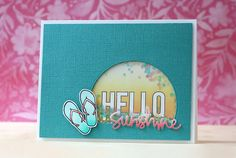 Such a Fun Shaker card created by Laura Bassen using the August 2015 card kit by Simon Says Stamp.
