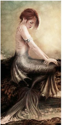 Sea Faerie, Mermaid Art Print 8 X 16 inch