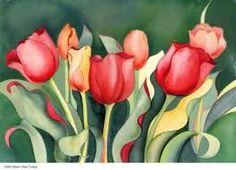 Resultado de imagen para paintings of tulips