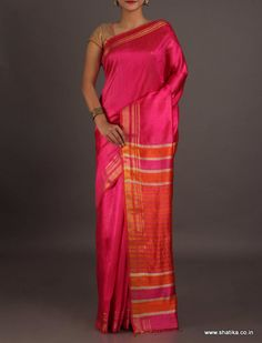 Lavanya Vibrant Pink and Red Attractive #BhagalpuriSilkSaree