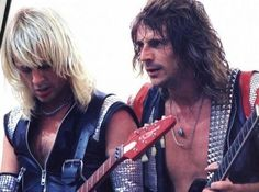 K.K. Downing and Glen Tipton. Guitar heroes. Gotta love the priest!