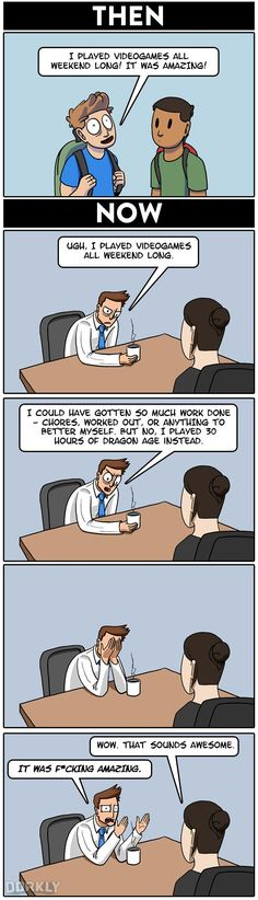 """""""Video Game Marathons, Then and Now"""" #dorkly #geek #videogames"""