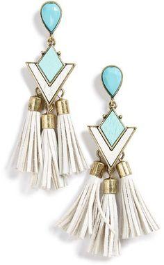 ❤ #earrings #accessories from BaubleBar 'Jem' Drop Earrings