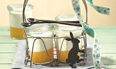 Fruchtige Komposition aus cremigem Pudding und Maracuja zum Verwöhnen