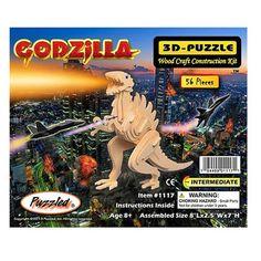 Godzilla 3D Puzzle Wood Craft Construction Kit