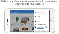 """Google is rolling out updates to its Google Docs, Sheets, and Slides apps for the iPhone and iPad today bringing the ability to make a copy of a document and more. In addition to the new """"Make a co..."""