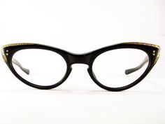 Vintage 50s Frame France Cat Eye Eyeglasses Sunglasses Glasses New