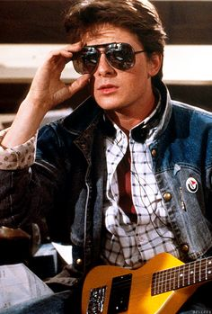 Michael J. Fox in Back To The Future.