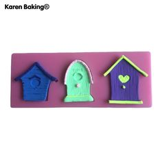 TANDA Small House Shaped 3D Silicone Cake Fondant Mold Cake Decoration Tools Soap Candle Moulds C154 *** Learn more by visiting the image link.