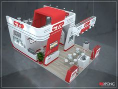 1 on Behance Exhibition Stall, Exhibition Booth Design, Exhibit Design, Double Deck, Small Buildings, Stage Design, 3d Design, Design Inspiration, Display