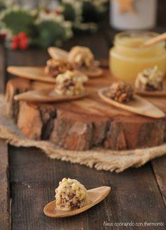 Neus cocinando con Thermomix: Bombones de morcilla con puré de manzana