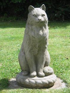 Large Sitting Cat statue
