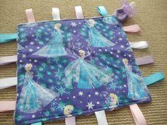Handmade-Personalised-Taggie-Dummy-Holder-Toy-Link-Elsa-Frozen Elsa Frozen, Handmade Baby, Blankets, Sewing, Toys, Link, Ebay, Needlework, Stitching