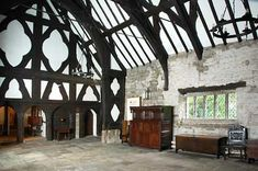 View of the Great Hall at Smithills Hall