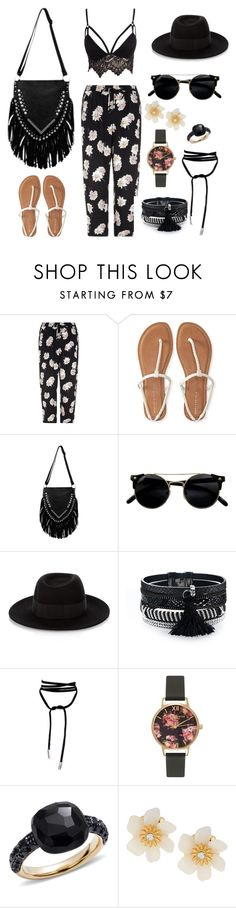 """""""Summer chic"""" by olivemartirez ❤ liked on Polyvore featuring Aéropostale, Maison Michel, Olivia Burton, Pomellato, Lydell NYC and Club L"""