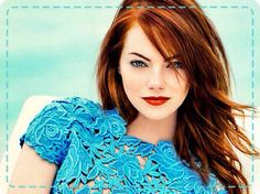 Emma Stone--Awesome Red