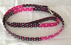 Hey, I found this really awesome Etsy listing at https://www.etsy.com/listing/179416757/stylish-pink-and-black-dog-leash-with
