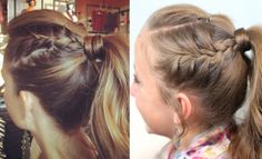 Double French into High Pony   Cute Girls Hairstyles