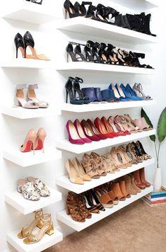 shoe rack Stylish 30 Minimalist Shoes Racks Design For Your Inspiration Over Door Shoe Rack, Wall Shoe Rack, Shoe Wall, Shoe Room, Closet Shoe Storage, Diy Shoe Rack, Diy Shoe Shelf, Shoe Racks For Closets, Shelves For Shoes