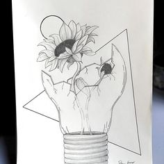 New The 10 Best Drawing Ideas Today with Pictures In the center of the mind a sunflower grows Gaphachi Emeryson rose sketches sketchbook drawings - Sketchbook Drawings, Cool Art Drawings, Pencil Art Drawings, Easy Drawings, Drawing Sketches, Sketchbook Ideas, Pictures For Drawing, Easy Nature Drawings, Tattoo Drawings