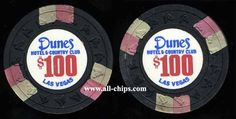 Las Vegas Casino Chip of the Day is a $100 Dunes 10th issue.  This is from the dig but in great shape as shown both sides.  You can get it here for $99.99