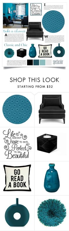 """take a chance"" by divacrafts ❤ liked on Polyvore featuring interior, interiors, interior design, home, home decor, interior decorating, Artistic Weavers, Kate Spade, One Bella Casa and Jamie Young"