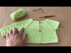 Diy Crafts - Crochet bodice for a toddler dress tutorial Crochet Yoke, Crochet Cardigan, Crochet Stitches, Baby Clothes Patterns, Baby Knitting Patterns, Baby Patterns, Knit Baby Dress, Crochet Baby Clothes, Diy Crafts Crochet