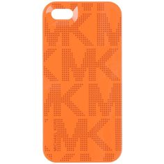 Michael Kors Mobile Phone Case (€21) ❤ liked on Polyvore featuring accessories, tech accessories, phone cases, phones, orange and michael kors