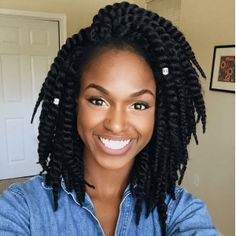 21 Best protective hairstyles for black women. SHORT TWISTS Source by fyahhangel Braided Hairstyles For Black Women, African Hairstyles, Afro Hairstyles, Black Hairstyles, Goddess Hairstyles, Beautiful Hairstyles, Hairstyles 2016, Ladies Hairstyles, Hairstyles Pictures