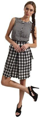 Paul Smith - Gingham Dress Black White Apparel #15things #trending #fashion #style #gingham #PaulSmith