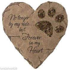 Dog Stepping Stone Paw Print Beadwork Garden Memorial Engraved Keepsake Pet NEW
