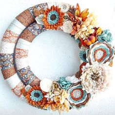 Someone is getting this wreath for Christmas! Is it you? . . . . . . #walldecor #doordecor #homedecor #decor #wreathsbyemmaruth #christmasgift #christmasidea #doublewreath #wrappedwreath #doublewrappedwreath #handmade #fabricwreath #fabricwrappedwreath #felt #feltflowers #feltewreath #craftliving #maker #makermama