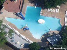 Texas-shaped pool