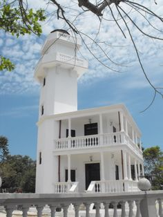 Punta del Tigre lighthouse [1908 - Isla Aguada, Campeche, Mexico] I book travel! Land or Sea! http://www.getawaycruiseplanner.com
