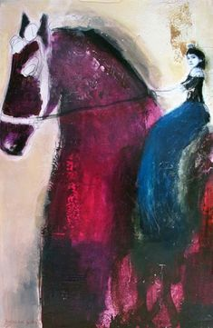 02885215fe40 Thompson Landry Gallery - Dominique Fortin Painting Collage, Collage Art,  Equine Art, Art